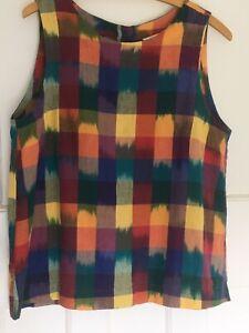 Toast Ikat sleeveless multicoloured cotton top 12 / 14
