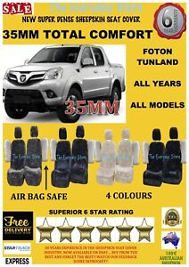 Foton Tunland All Years Super Dense Sheepskin Car Seat Covers Pr Arbag Safe 35MM