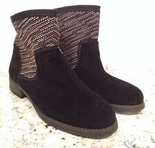 Carlos By Carlos Santana Alton Riding Ankle Boots Suede Pull On Black 5 $129 New