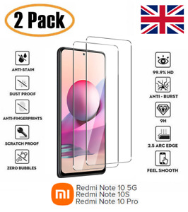 For Xiaomi Redmi Note 10 5G 10S 10 PRO Clear Tempered Glass Screen Protector