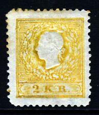 AUSTRIA 1887 2k Yellow Final Reprint Perf 12½ SG 11 MINT