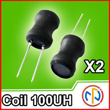 2X INDUTTANZA 100UH Coil 3A 9*12mm Inductance Inductor THT