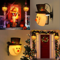 2PCS Snowman Head Light Cover Snowman Lamp Shade for Holiday Porch Christmas