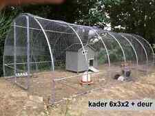 Rahmen 6x2x3 m  mit 2 Türen ideal für die Erstellung einer Voliere/ Gewächshaus