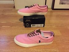 Polo Ralph Lauren Vaughn canvas suede sneaker boat shoes big pony pink green red