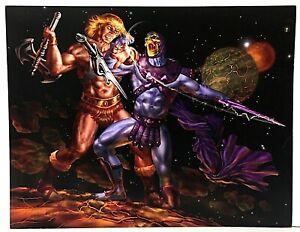 Signed He-Man & MOTU Vs. Skeletor Comic Action Art Print 8x10.5