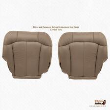 2001 2002 GMC Sierra 2500 2500HD Driver & Passenger Bottom Leather Cover Med Tan