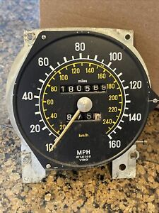 Mercedes-Benz 74-79 R107 Speedometer Instrument Cluster 160 MPH 180,589 Miles