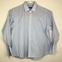 John Varvatos Men Size 17 36/37 Long Sleeve Button Front Dress Shirt Star USA
