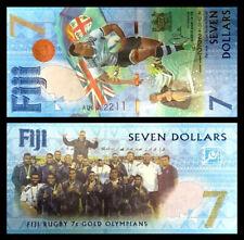 Fiji 7 Dollars,Banknote,Summer Olympics in Rio de Janeiro,2016,P-120,UNC