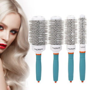 4 Sizes Hair Dressing Brush Salon Barber Styling Barrel Ceramic Iron Round Comb