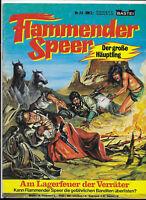 Flammender Speer Nr.25 von 1980 mit Poster - TOP Z1 BASTEI WESTERN COMICHEFT