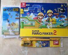 Mario Maker 2 Steelbook + Drawing Pad Notebook Pencil (NO GAME)