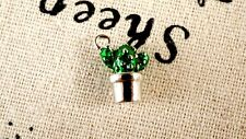 Cactus pot silver tiny charm jewellery supplies C267