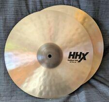 "Sabian 14"" HHX Medium Hi Hat Cymbals. 1010/1330 Grams. Natural Finish."
