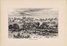 Askulan - Askelon. Rare Antique Print 1881