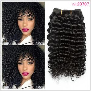 3bundles/150g Kinky Curly 100% Virgin Real Human Hair Extensions Brazilian Weave