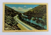 Postcard Linen Greetings from Bowmanstown Pennsylvania Route 145 Lehigh River