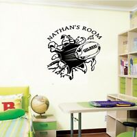 personalized ball rugby wall sticker, playroom bedroom