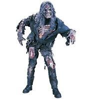 FunWorld Men's Complete 3D Zombie Costume, Grey, One Size, Multi, Size Standard