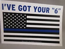 LOT OF 20 I GOT YOUR 6 STICKERS BLUE LIVES MATTER POLICE TRUMP LINE FLAG SIX LAW