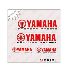X4 KIT YAMAHA RACING LAMINADO  STICKERS MOTO VINILO  TUNING ADESIVO DECAL