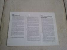 Carte de garantie multilingue pour ordinateur TI-99 / TI99 / TI 99
