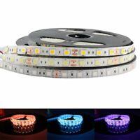 RGB LED Strip Light 5V 12V 24V Waterproof 5050 5M Flexible Tape Lamp Warm White