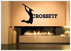 Wall Decor Art Vinyl Sticker Mural Poster Bodybuilding Fittness CrossFit SA881