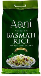 Aani Basmati Rice 5kg Pure, Aromatic, Fluffy. recleaned.