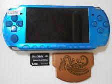 Z12370 Sony PSP-3000 console Vibrant Blue Handheld system Japan w/SD Cardx