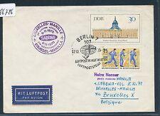 96746) Belgien SABENA FF Brüssel - Manila 8.11.70, Brief ab DDR