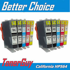 10pc Ink Cartridge For HP 564XL Deskjet 3522 3526 3521 3520 e-All-in-One Printer