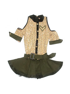 Women Adult Weissman Mighty Wings 10200 Military WWII Dance Costume Size MA