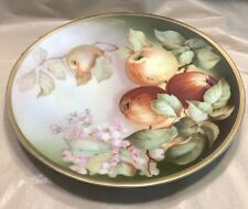 Thomas Sevres Bavaria Hand Painted Plate Artist Signed Apple Blossoms 8.5 Inch