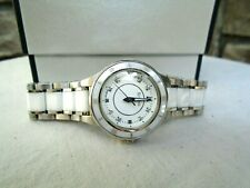 Bulova Women's Stainless Steel and Ceramic Diamond Watch NEW!