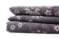 1/2.5 Yard Indian Grey & White Hand Block Print Cotton Fabric Dressmaking Sewing