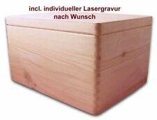 Aufbewahrungsbox Holzkiste m. Deckel ohne Griffl. Kiefer Gr. 3 incl. Lasergravur