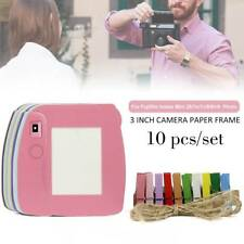 10PCS Paper Photo Frame Set For Fujifilm Instax Polaroid mini 8, 7s 7C 25 50 90