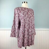 Size 2X Karen Scott 3/4 Sleeve Floral Top Blouse Shirt Pullover Women's Plus New
