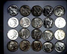 20 COIN ROLL BEAUTIFUL PEACE LIBERTY SILVER DOLLARS