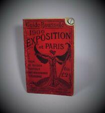 E. Brocherioux GUIDE BOUSSOLE EXPOSITION 1900 PARIS Paul Ollendorff Plan