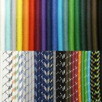 (ab €1,90/m) Premium Textilkabel 3-adrig Stoffkabel, Lampenkabel, 100% Baumwolle
