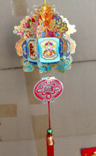 2 CHINESE GOD OF WEALTH MINI RED PAPER PALACE LANTERN JAPANESE BIRTHDAY PARTY