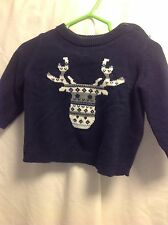 Gymboree Infant boys navy holiday sweater 3-6 mo 100% cotton
