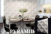 3D Decorative wall panels ABS Plastic molds Plaster Gypsum alabaster PYRAMID