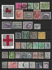 Collection of Old Stamps - Australian States . . . . . (3 pages)