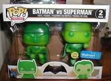 funkoPOP HEROES BATMAN VS SUPERMAN GLOW IN THE DARK WALMART EXCLUSIVE 2 pack NEW
