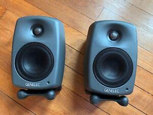 Genelec 8020D Studio Monitor, Grey (Pair)