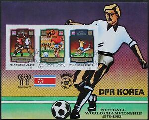 "Korea: Michel Block-Nr. 79B ""Fußball-WM´78/ ´82"" aus 1980, gestempelt"